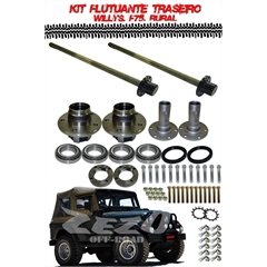 Kit Semi Eixos Flutuantes Traseiros Willys