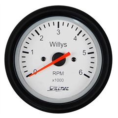 contagiro Willys 52mm p/ motor 6cil Gasolina/Alcool c/ fundo branco Willtec