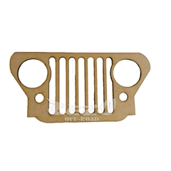 Frente Grade Jeep Willys Cj3 Madeira MDF 6mm (40cmx20cm) Decorativa