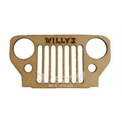 Frente Grade Jeep Willys Cj3B Madeira MDF 6mm (40cmx20cm) Decorativa