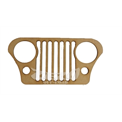 Frente Grade Jeep Willys Cj5 Madeira MDF 6mm (40cmx23cm) Decorativa