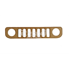 Frente Grade Jeep Renegade Madeira MDF 6mm (40cmx9cm) Decorativa