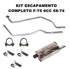Kit Escapamento Original Pick-Up F-75 (1958/1974) Motor 6cil (8pçs)