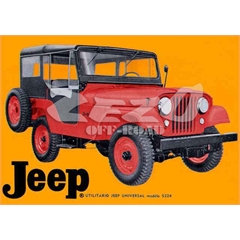 Quadro Decorativo Willys (70cm x 50cm) PVC (3mm) Modelo 69